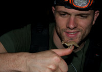 Adrien with an Uroplatus ebenaui