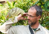 Michel with a Calumma globifer